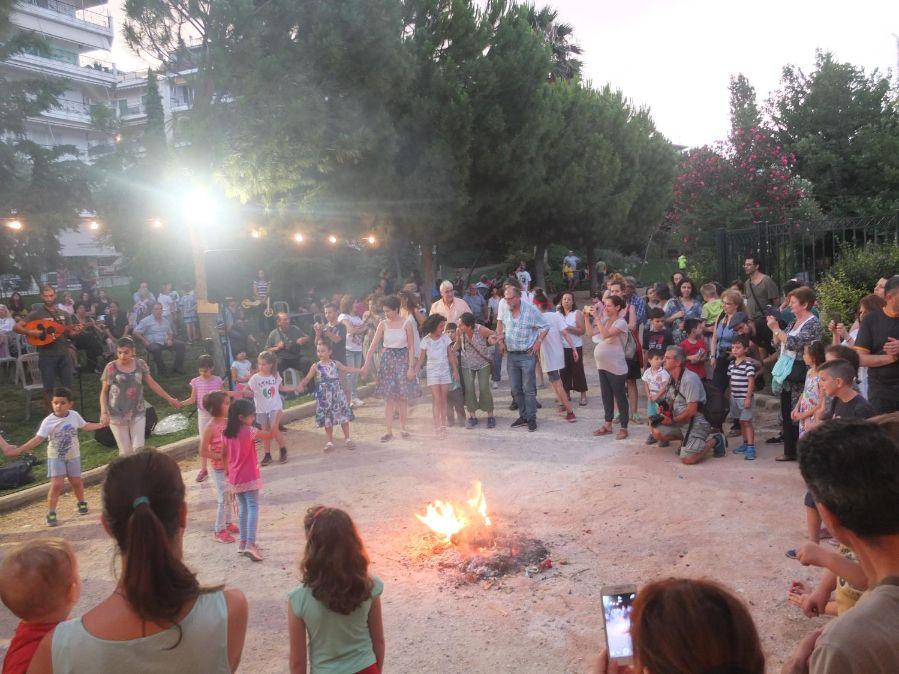 Φωτογραφία από Οι φωτιές του Αη Γιάννη του Κλήδονα στο πάρκο ΚΑΠΑΨ